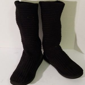 Ugg tall knit slouch boots